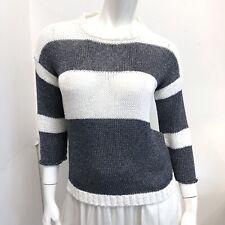 Les Copains Black & White Strip Knit Top S