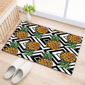Tropical Pineapple Door Floor Area Rug Mat Non-skid Indoor Bath Home Carpet