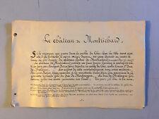 Manuscrit Visite Chateau Fort Photo Deguisement Montrichard Loir-et-Cher XIX 13