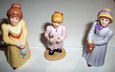 New ListingG Z Lefton Colonial Village #11583 1998 Nos 3 Figurines Shirley Debbie Kimberly