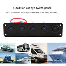 12v/24v Car SUV 5 Gang LED Rocker Switch Panel Offroad Exterior Fog Light Bar