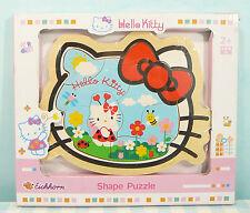 Hello Kitty wooden Shape Jig Saw Puzzle houten puzzel Sanrio 2010 Eichhorn