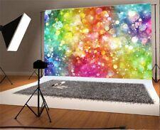 Child 5x3ft Colorful Sparkle Bokeh Photography Backgrounds Theme Photo Backdrops