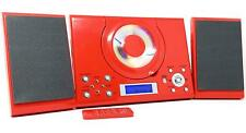 CD Player with USB GTMC-101 Red Micro Stereo Hi Fi  Aux In Clock Alarm & Radio