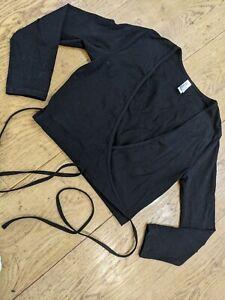 American apparel Black Wrap Top Size Xsmall