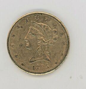 1895-O  EAGLE, LIBERTY HEAD,  GREAT COIN, AGW: 0.4837oz