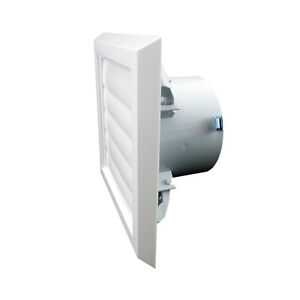 """Wall Vent Soffit Gravity Grille Bathroom Extractor Fan Ducting 4"""" 5"""" & 6"""" Spigot"""