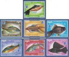 Cambodge 954-960 (complète edition) neuf avec gomme originale 1988 poissons d'or