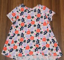 Girls - CAT & JACK - Pink Floral Short Sleeve Swing Top Tunic Shirt L 10 12