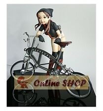 (Q_44)1/8 Girl and Bicycle Chord Liner Unpainted Resin Figure Kit