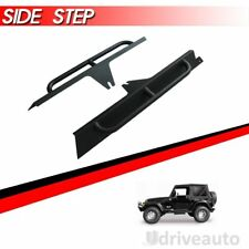 Side Armor Bars Rock Sliders Side Steps For 1987-1996 Jeep Wrangler YJ 2 Door