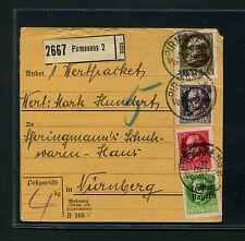 Bayern - Paketkarte mit 128A  Mif   (DK3-2)
