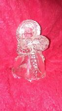 """Goebel Bell West Germany Snow Angel 3.5"""" Tall Glass Crystal"""