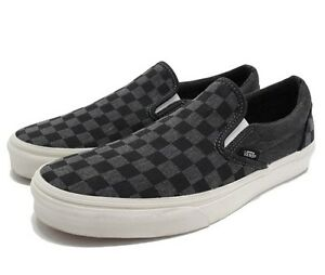 Vans Classic Slip-on Overwashed BLlack Checker VN-0 ZMRFIX