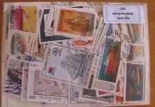 200 verschiedene Briefmarken Schiffe , Segelschiffe , Dampfer , Boote