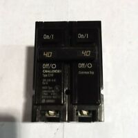 C240 Challenger Type C 2 Pole 40A 120/240VAC Plug-on Circuit Breaker NEW