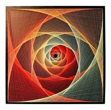 "String Art ""All-Seeing Eye"" Sacred Geometry Handmade Wall Decor 3D Mandala UV"