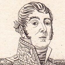 Portrait XIXe Général Rampon Saint-Fortunat-sur-Eyrieux Ardèche Napoleon Empire