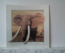African elephant 5D Lenticular  Holographic Stereoscopic Picture Wall Art
