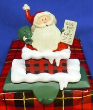 Hallmark Stocking Hanger Holder Santa Claus Chimney Solid Steel or Cast Base
