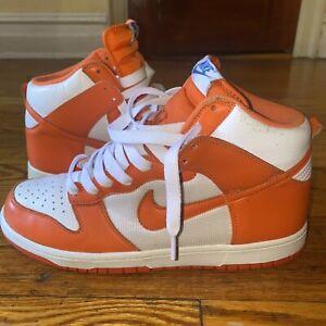 2009 Nike Syracuse Dunk High *Used* Orange White Blue 317982-181 Size 10