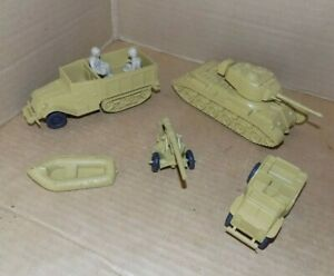 1960's Marx Desert Fox Army play set number 59922 American Vehicle lot in tan