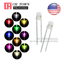 10kinds 1000pcs 3mm LED Diodes Water Clear White Red Blue Purple/UV Mix Kits