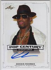 2014 LEAF POP CENTURY AUTO: DENNIS RODMAN-AUTOGRAPH NBA HALL OF FAME BULLS/SPURS