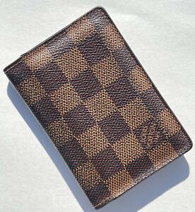 2013 Louis Vuitton LV Damier Ebene Bifold Wallet Organizer De Poche Card Case