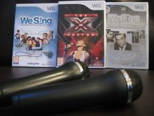 We Sing MEGA X-FACTOR 98 song Karaoke Wii BUNDLE - 2x MICROPHONES Mics NINTENDO