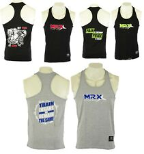 Mens Bodybuilding Gym Fitness Exercise Vest MRX Workout Training Sports Tank Top