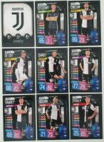 2019/20 Match Attax UEFA Soccer Cards - Juventus Team Set inc Dybala (9 cards)