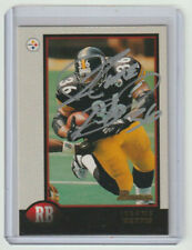 JEROME BETTIS Steelers SIGNED 1998 Bowman Football #118 Autograph ON CARD AUTO