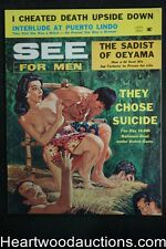 """See For Men"" January 1962 George Gross Cvr, Bob Correa, Lady Sumo Wrestlers, Ro"