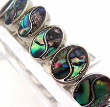 "PAUA Shell abalone Nature's 1 Stretch Bracelet 1/2""W Wheeler Mfg. STB 008 NEW"
