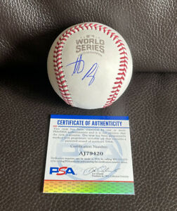 Anthony Rizzo Signed Official 2016 World Series Baseball Psa/Dna Coa Cubs