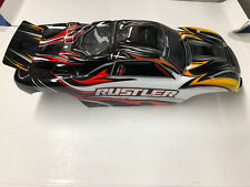 Traxxas Rustler 1/0 Scale Painted Black Body w/ Decals