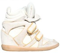 ISABEL MARANT Suede Wedge Sneakers (SIZE 39)