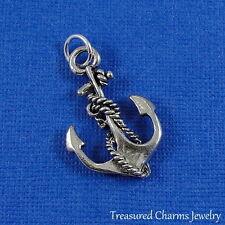 Silver Nautical ANCHOR Navy Marine CHARM PENDANT