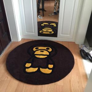 New Large Heavy Bape Ape Area Rugs Carpet Floor door Mat Decor Living Room
