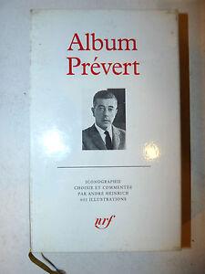 Biografia Fotografia, Album: Jacques Prevert 1992 La Pleiade 1a prima edizione