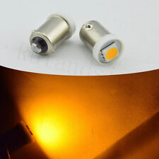 2X Yellow T11 BA9S 5050 1 SMD LED Light Bulb Indicator Side Car DC 12V Lamp T4W