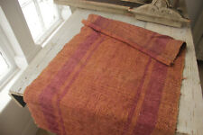 Antique dyed hemp Table Stair runner Natural hand woven 44 x 21 inches textile