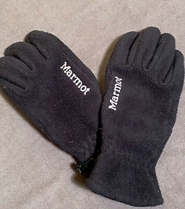 Marmot Polartec Fleece Gloves / Glove Liners - Black - Men's Medium