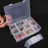 24 Compartments Plastic Storage Container Case Fishing Hook Bait Lure Tackle Box