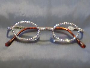 Made with Swarovski Crystal Jeweled Reading Glasses Fashion Bling +2.50 NEW!