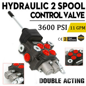 Hydraulic Directional Control Valve Tractor Loader w/ Joystick, 2 Spool, 11GPM