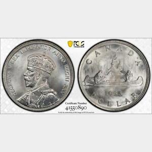 1935 Canada Dollar. PCGS MS 65. KM-30. Brilliant White.