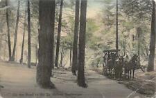 On the Road to St. Helena Sanitarium, Napa Co.1913 Hand-Colored Vintage Postcard