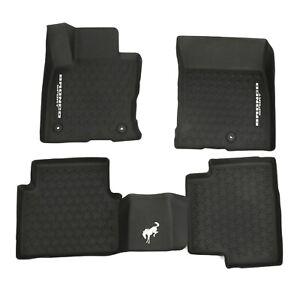 NEW 2021 Ford Bronco Sport Tray Style Molded Black Floor Mats Set MP1Z7813300BA